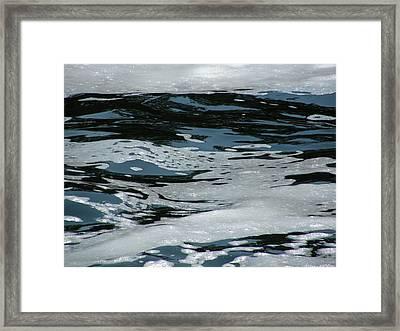 Foam On Water Framed Print