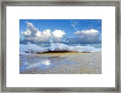Foam Shuffle Framed Print by Sean Davey