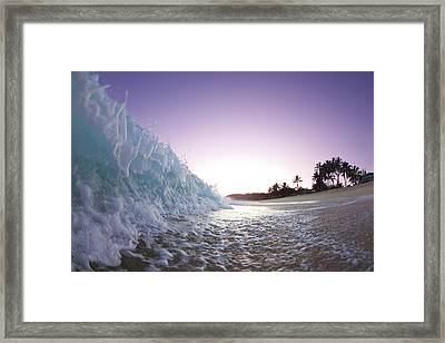 Foam Wall Framed Print by Sean Davey