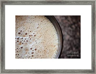 Foamy And Hot Framed Print by Rachel Barrett