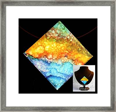 Foamy Beach Necklace Framed Print by Alene Sirott-Cope