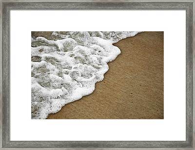 Foamy Beach Tide Framed Print by Carolyn Marshall
