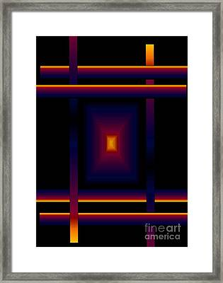 Framed Print featuring the digital art Focal Point by Gayle Price Thomas