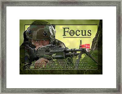 Focus Affirmation Poster Framed Print by Mountain Dreams