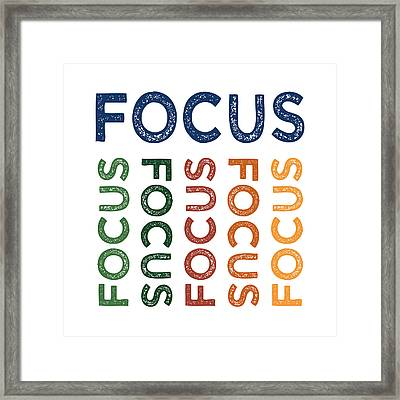 Focus Cute Colorful Framed Print by Flo Karp