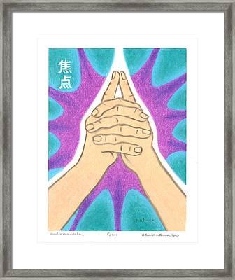 Focus - Mudra Mandala Framed Print