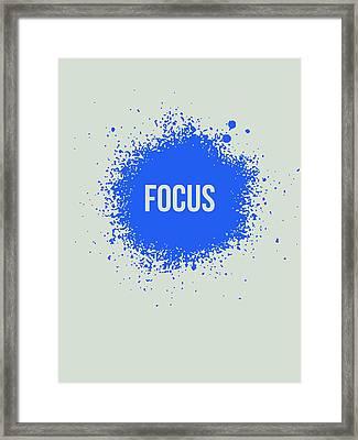 Focus Splatter Poster 1 Framed Print by Naxart Studio