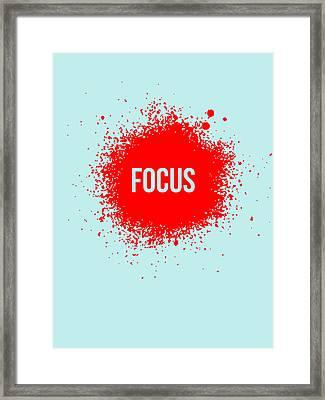 Focus Splatter Poster 2 Framed Print by Naxart Studio