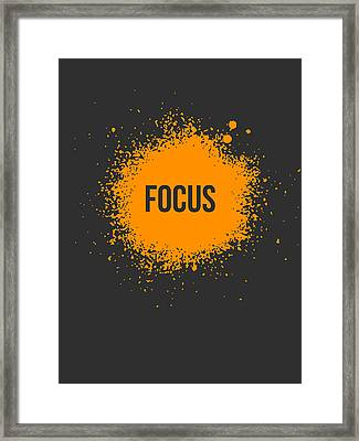 Focus Splatter Poster 3 Framed Print by Naxart Studio