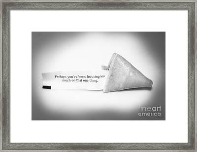Focusing Framed Print by Janice Rae Pariza