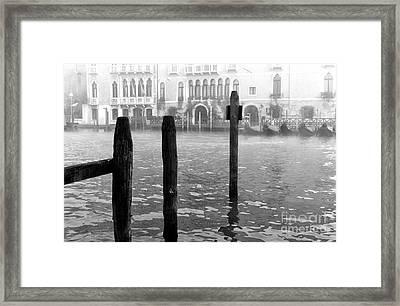 Fog Along The Grand Canal Framed Print