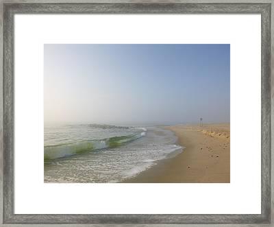 Fog And Blue Sky 2 Framed Print