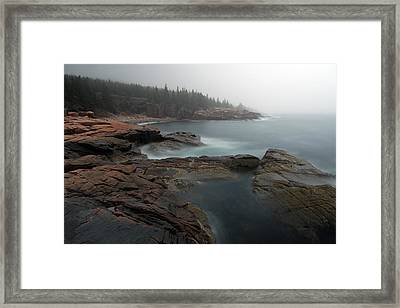 Fog At Acadia National Park Framed Print by Juergen Roth