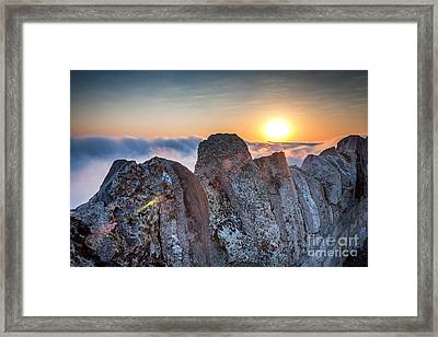 Framed Print featuring the photograph Fog At Garvin Heights by Kari Yearous
