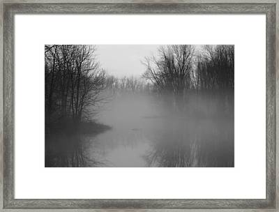 Framed Print featuring the photograph Fog At Mud Creek by Jim Vance