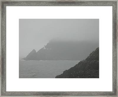 Fog At The Coast Framed Print by Yvette Pichette
