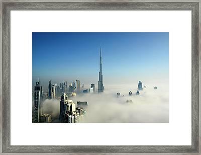 Fog In Dubai Framed Print by © Naufal Mq