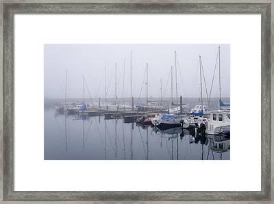 Fog In Marina I Framed Print
