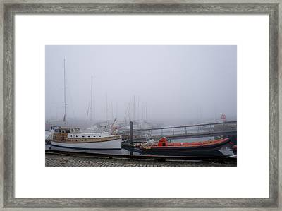 Fog In Marina IIi Framed Print