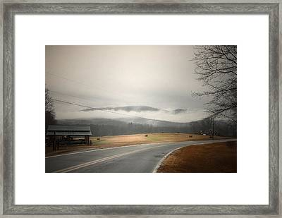 Fog In The Hollow Framed Print by Cindy Rubin
