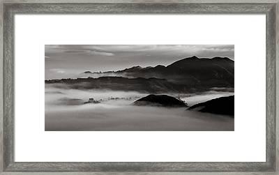 Fog In The Malibu Hills Framed Print