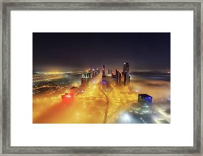 Fog Invasion Framed Print