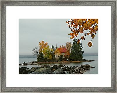 Fog Island Framed Print