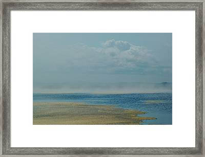 Fog Lifting Framed Print by Nancy Landry