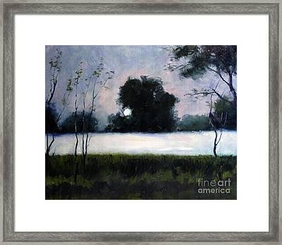 Fog Moon Framed Print by Charlie Spear