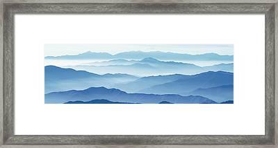 Fog Mountains Nagano Japan Framed Print