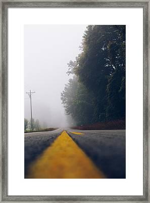 Fog On Highway Framed Print