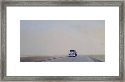 Fog On Rt.150 Framed Print by Jeffrey Bess