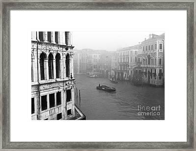 Fog On The Grand Canal Framed Print