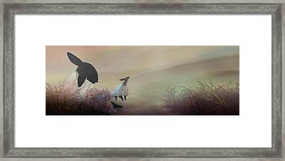 Fog On The Moor Framed Print by Jean Moore