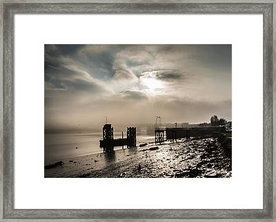Fog On The River Medway Framed Print by Dawn OConnor