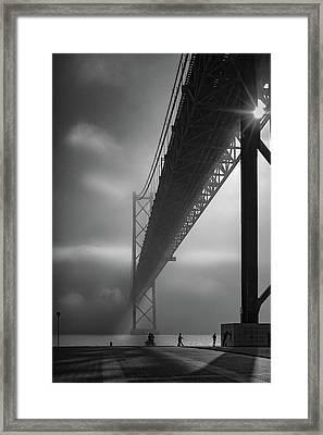 Fog On The Tejo River Framed Print