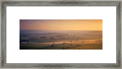 Fog Over A Landscape, Blackmore Vale Framed Print by Panoramic Images