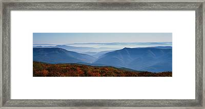 Fog Over Hills, Dolly Sods Wilderness Framed Print by Panoramic Images
