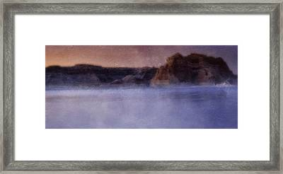 Fog Over Lake Powell Framed Print by Ellen Heaverlo
