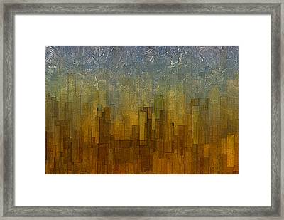 Fog Over Midtown Framed Print by Jack Zulli