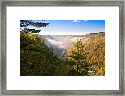 Fog Over The Canyon Framed Print
