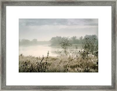 Fog Over The River. Stirling. Scotland Framed Print by Jenny Rainbow
