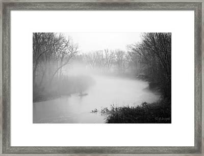 Fog Over The Stream Framed Print