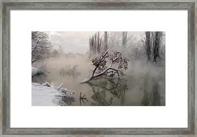 Fog Over The Water Framed Print