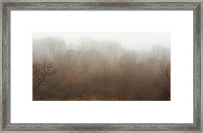 Fog Riverside Park Framed Print by Scott Norris