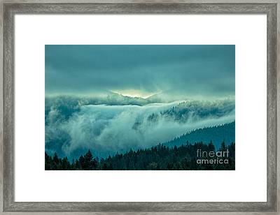 Fog Rolling Over The Montana Rocky Mountains Framed Print by Natural Focal Point Photography