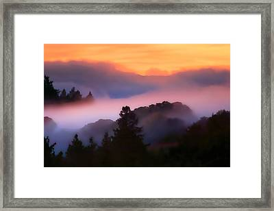Fog Rolls In From The Ocean Framed Print by Wernher Krutein