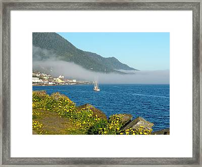 Fog Rolls In Framed Print by Karen Horn