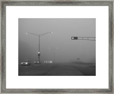 Fogged Commute Framed Print by Wild Thing