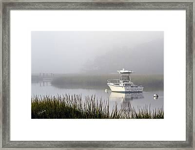 Foggy Anchor Framed Print
